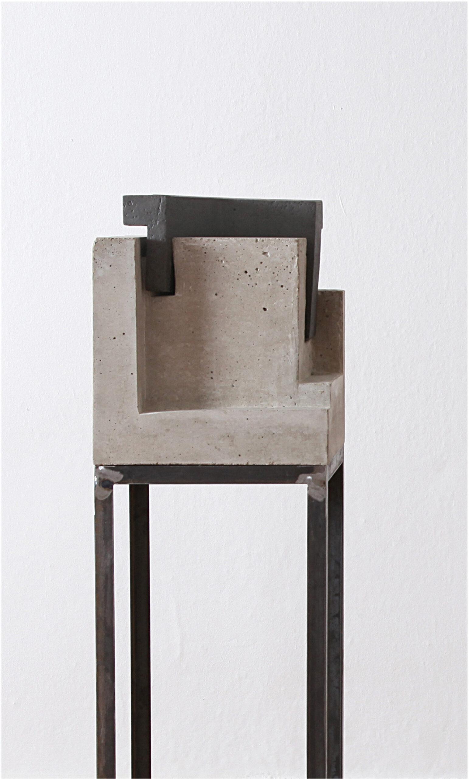Kubus Ensemble | 2009 | Beton, Keramik | 30 x 30 x 115 cm