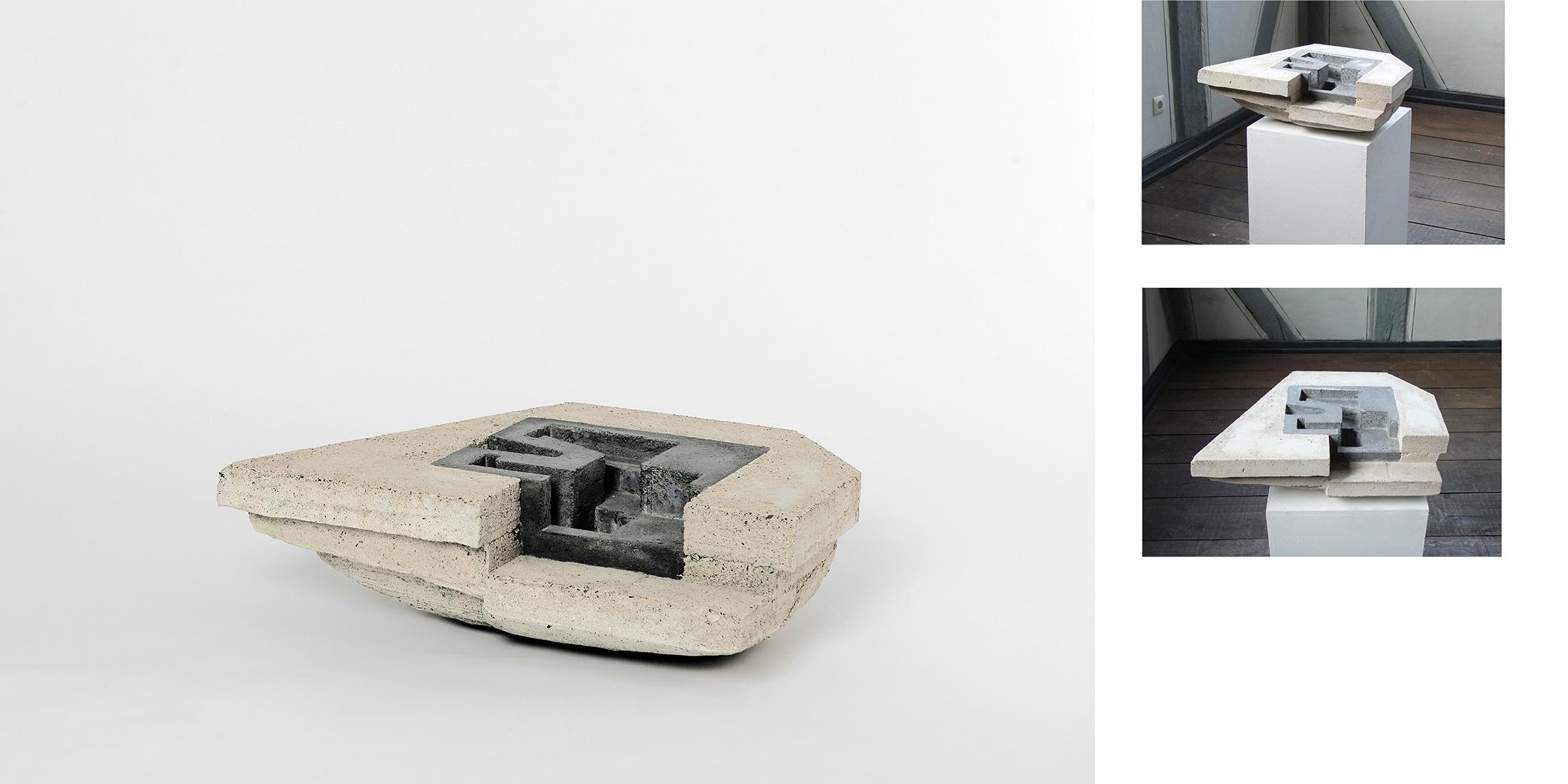 Espace|Surface 1 | 2009 | Steinzeug,Beton |  79 x 17 x 109 cm
