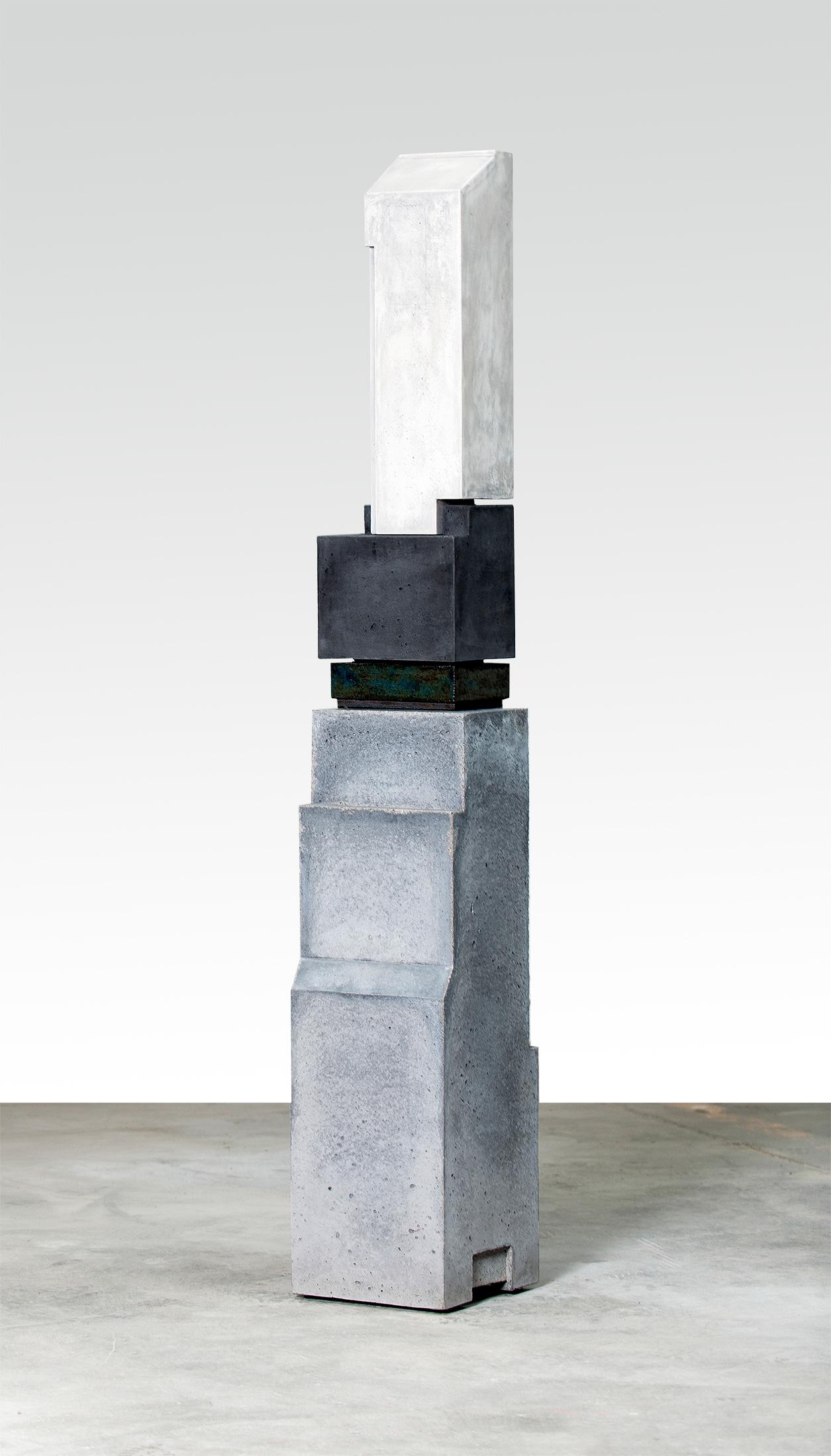 Silo 6  | 2013 | Steinzeug,Beton | 30 x 30 x 200 cm