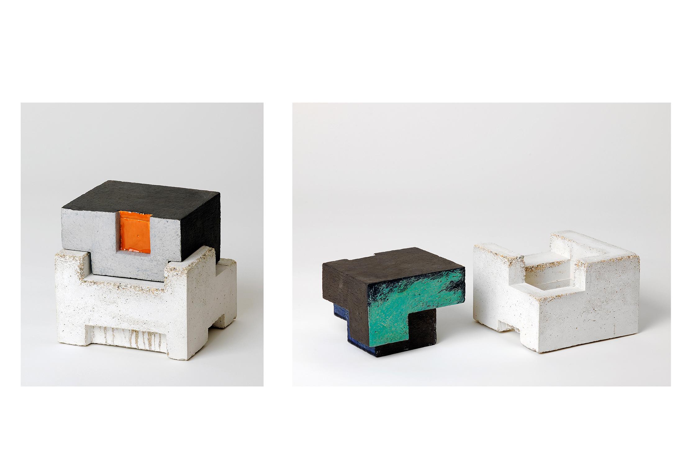 Zwei IV | 2010 | Steinzeug, Beton | 16 x 16 x 16 cm