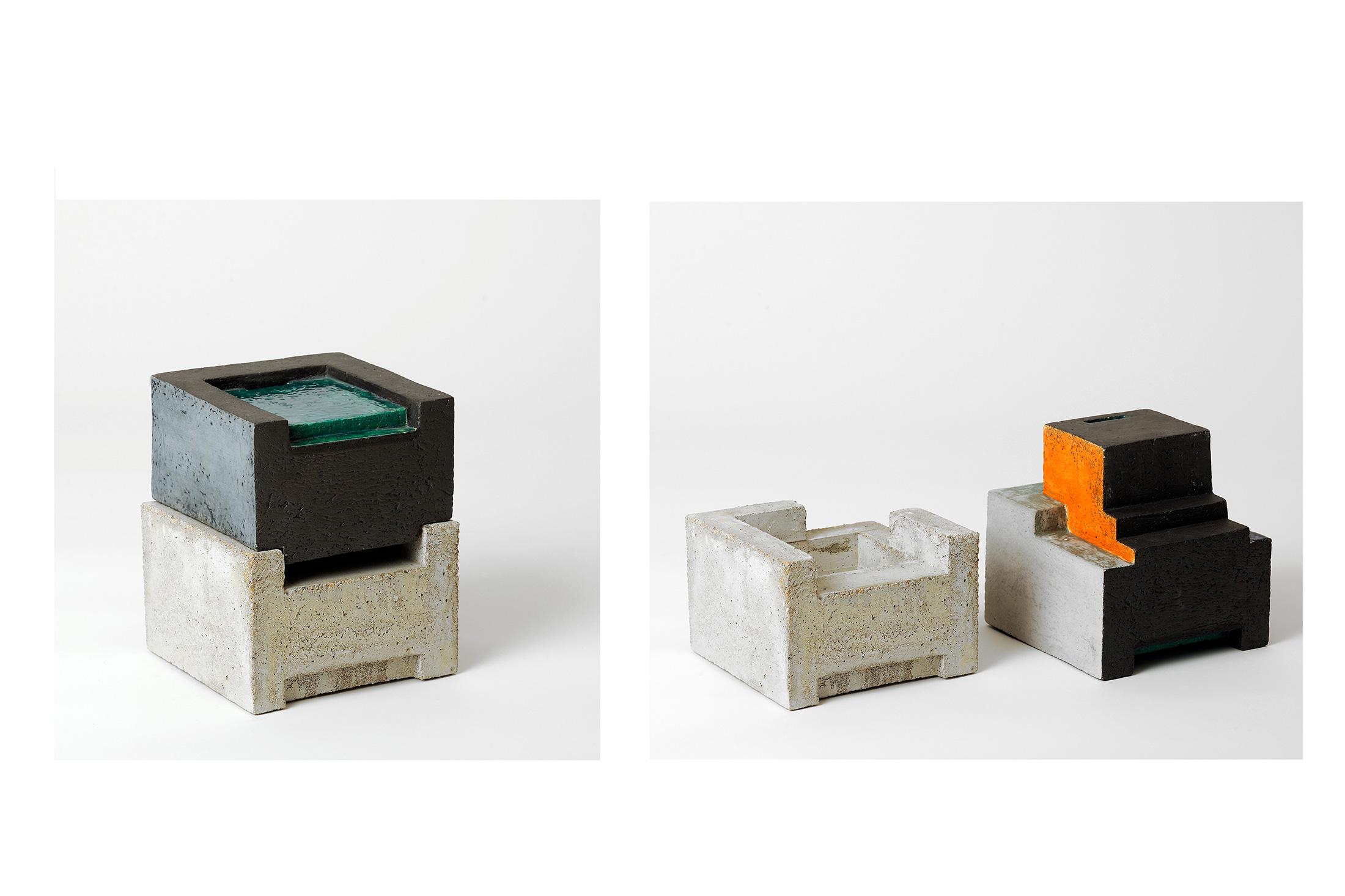 Zwei VI  | 2013 | Steinzeug,Beton | 16 x 16 x 16 cm