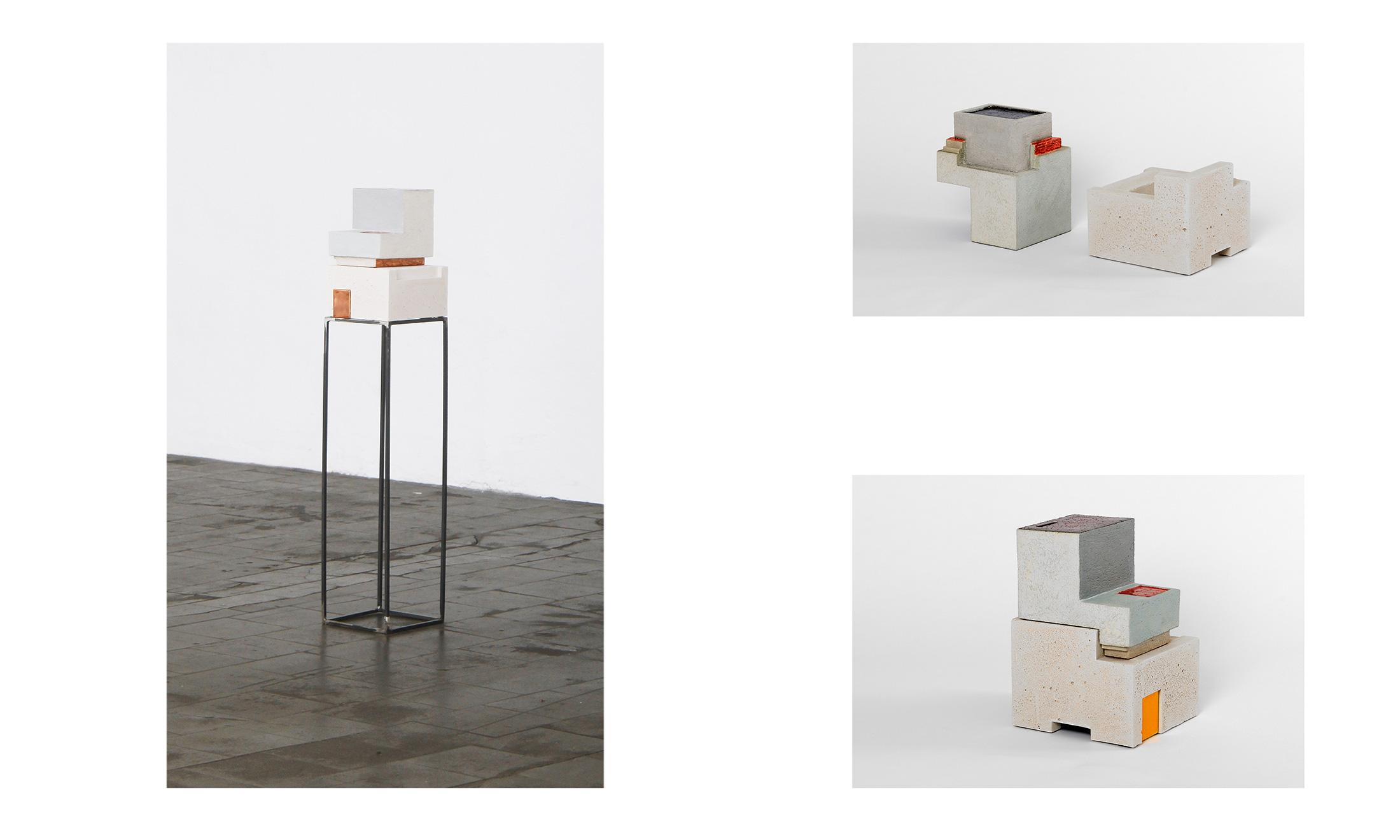 Zwei III | 2013 | Steinzeug, Beton | 24 x 24 x 50 cm