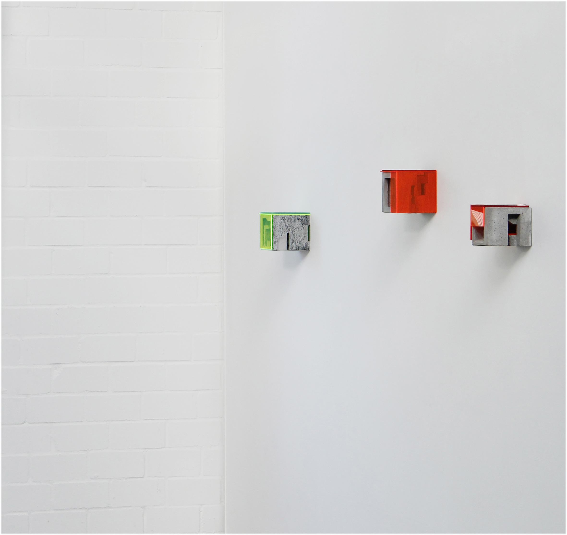 Box X/3, Box X/6, Box X/5 | 2019 | 15 x 15 x 14 cm Beton / Acrylglas